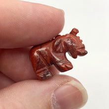 Load image into Gallery viewer, Wild 2 Hand Carved Brecciated Jasper Elephant Beads | 21x14.5x9mm | Red - PremiumBead