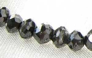 1 Fancy Color 0.61cts Natural Black Diamond Roundel Bead 9892D - PremiumBead