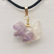 Load image into Gallery viewer, Amethyst Squirrel Pendant Necklace | Semi Precious Stone Jewelry | 14k Pendant - PremiumBead