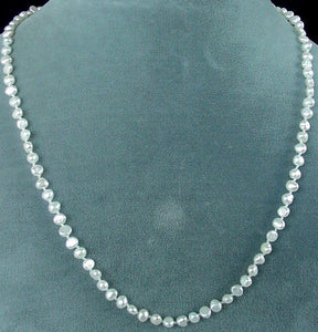 Lovely 18 inch White FW Pebble Pearl and Sterling Silver Necklace 200015A - PremiumBead