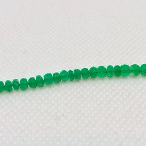 3 Natural Emerald 3x2mm to 4x3.4mm Faceted Roundel Beads 10715B - PremiumBead