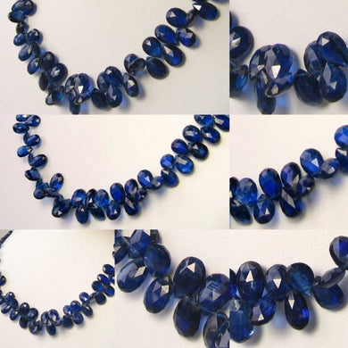 110cts! AAA Kyanite Faceted Briolette 59 Bead Strand 109914B - PremiumBead Primary Image 1