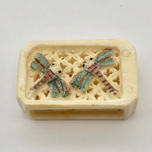 Load image into Gallery viewer, Brilliant Dragonfly Waterbuffalo Bone Box Pendant Bead 10755 - PremiumBead Primary Image 1