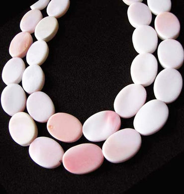 Rare Pink Conch Shell 18x13mm Oval Bead Strand 109460 - PremiumBead