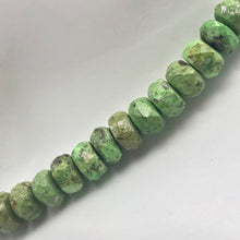 Load image into Gallery viewer, 1 Natural Gaspeite Faceted Roundel 6x5mm to 7x3mm Bead - PremiumBead