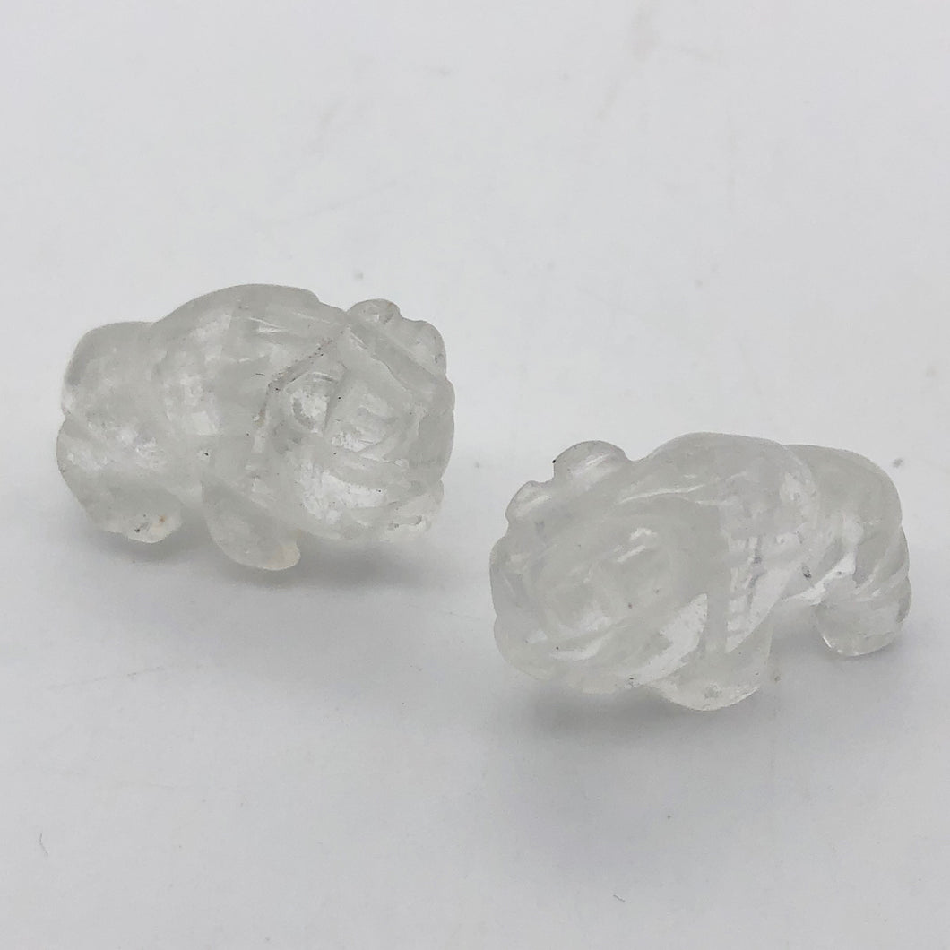 charge-2-quartz-hand-carved-bison-buffalo-beads-21x14x8mm-clear-15366
