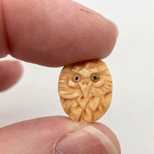 Load image into Gallery viewer, Pair of Wise Owl Carved Beads | 2 Beads | 16x13x5mm | 8625 - PremiumBead Alternate Image 7