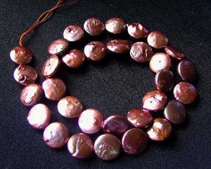 3 Sensational Pink Gold FW Coin Pearls 8317 - PremiumBead