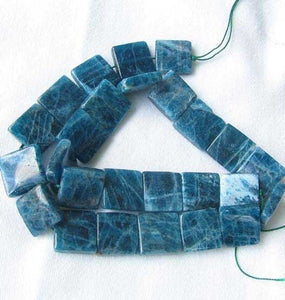2 Deep Blue Apatite Square Focal Beads 8685 - PremiumBead