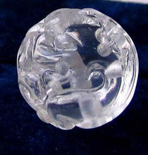 Load image into Gallery viewer, 1 Unique Hand Carved Wind Dragon Quartz 24mm 10356 | 24mm | Clear - PremiumBead