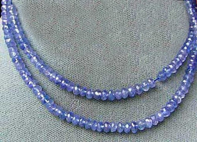 Tanzanite Faceted From 3x1.25mm to 2.5x1mm Roundel Bead 15 inch Strand 109713 - PremiumBead