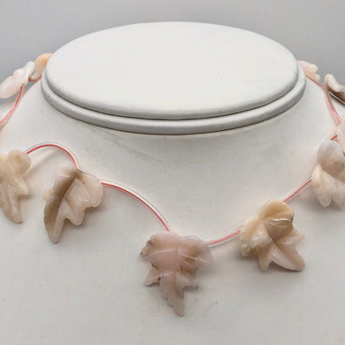 Light Pink Peruvian Opal Leaf Briolette Bead Strand 110823A - PremiumBead Primary Image 1