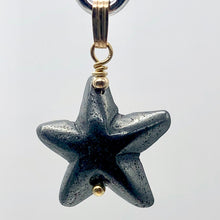 Load image into Gallery viewer, Hematite Starfish Pendant Necklace | Semi Precious Stone | 14k gf Pendant - PremiumBead Primary Image 1