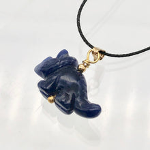 Load image into Gallery viewer, Sodalite Triceratops Dinosaur with 14K Gold-Filled Pendant 509303SDG - PremiumBead Alternate Image 6