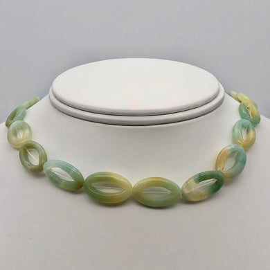 Picture Frame Amazonite 20mm Oval Bead Strand 109368C - PremiumBead