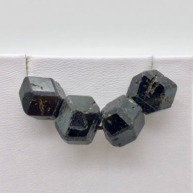 4 Natural Garnet 12-sided Crystal Beads | 16x12-13x11mm | Red | 10862 - PremiumBead Primary Image 1
