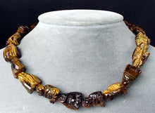 Load image into Gallery viewer, Namaste 2 Hand Carved Tiger's Eye Buddha Beads | 18.5x16x9.5mm | Golden Brown - PremiumBead