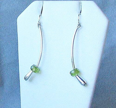 Green Peridot & 925 Sterling Silver Earrings 6487 - PremiumBead Primary Image 1