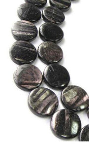 2 Shimmer Sexy Hypersthene 20mm Coin Beads for Jewelry Making 8988 - PremiumBead