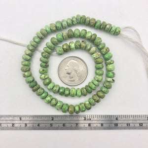 1 Natural Gaspeite Faceted Roundel 6x5mm to 7x3mm Bead - PremiumBead