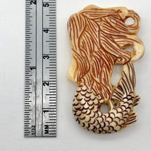 Load image into Gallery viewer, Splash Hand Carved Mermaid Centerpiece Bead | 42x26x5mm | - PremiumBead Alternate Image 5
