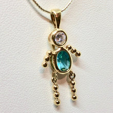 Load image into Gallery viewer, march-crystal-kid-boy-22k-vermeil-pendant-9926cb-11561