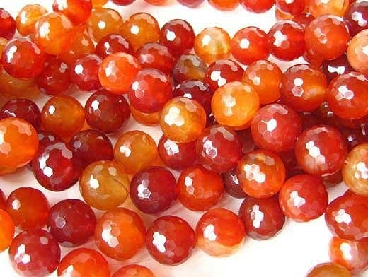 Disco Ball Facet! 18mm Natural Carnelian Bead 7261A - PremiumBead