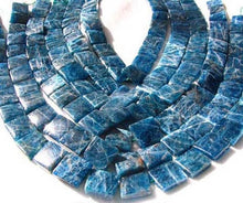 Load image into Gallery viewer, 2 Deep Blue Apatite Square Focal Beads 8685 - PremiumBead