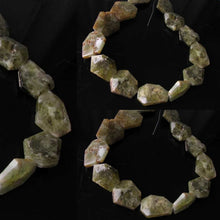 Load image into Gallery viewer, Druzy Natural Green Grossular Garnet Bead Strand 109659B - PremiumBead
