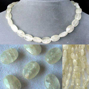Sparkling Lemon Faceted Calcite Oval Bead Strand 104635 - PremiumBead Alternate Image 4