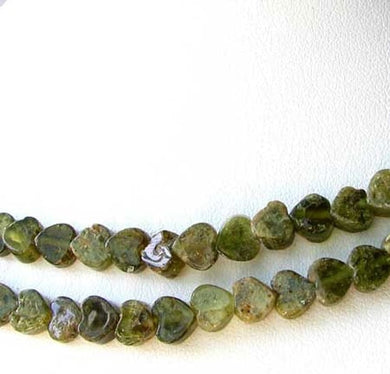 19 Beads of Green Grossular Garnet 6mm Heart Beads 9592 - PremiumBead Primary Image 1
