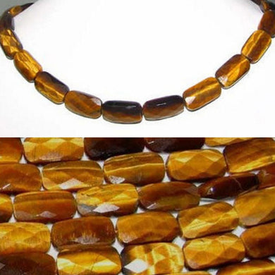 4 Beads of Sophisticated Perfectly Faceted 17x9mm Tigereye Beads 8684 - PremiumBead