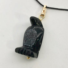 Load image into Gallery viewer, Tuxedo Obsidian Penguin Sterling Silver Pendant, Black and White 509273OB - PremiumBead