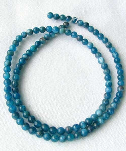 17 Stunning Blue Apatite 4mm Round Beads 008889B - PremiumBead Alternate Image 4