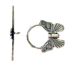 Load image into Gallery viewer, Flutter 1 Sterling Silver Butterfly Toggle Clasp 7934 - PremiumBead