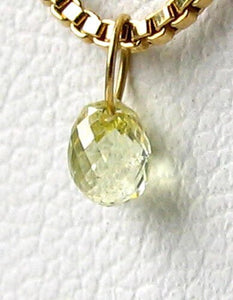 0.39cts Natural Canary Diamond 18K Gold Pendant 8798E - PremiumBead