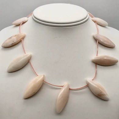 Pink Peruvian Opal Marquis Briolette 12 Bead Strand 10815A - PremiumBead
