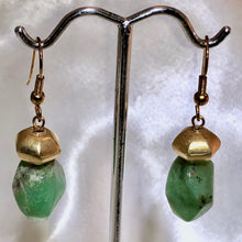 Load image into Gallery viewer, Chrysoprase and 22K Vermeil Earrings #300025 - PremiumBead Alternate Image 2