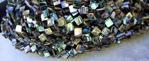 Exciting! Abalone Diagonal Square Bead Strand 105762 - PremiumBead Alternate Image 4