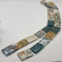 Load image into Gallery viewer, Ocean Jasper 36x24x4mm Amazing Rectangular Bead Strand - PremiumBead Primary Image 1