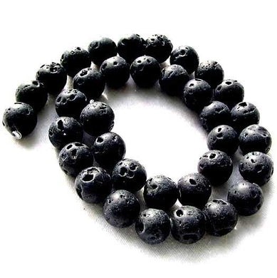 Dawn of Creation 10mm Round Lava Bead Strand 109403 - PremiumBead