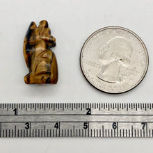 Load image into Gallery viewer, Howling New Moon Tiger's Eye Wolf Coyote Figurine | 21x11x8mm | Golden Brown - PremiumBead
