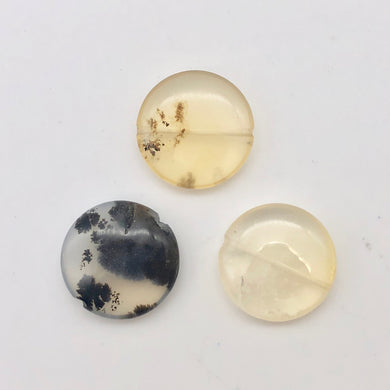 3 Golden Dendritic Opal 20mm Disc Beads 003192 - PremiumBead Primary Image 1