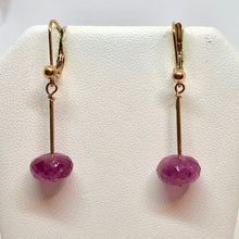 Load image into Gallery viewer, Rare Rubilite - Pink tourmaline & 14K Earrings 306985 - PremiumBead