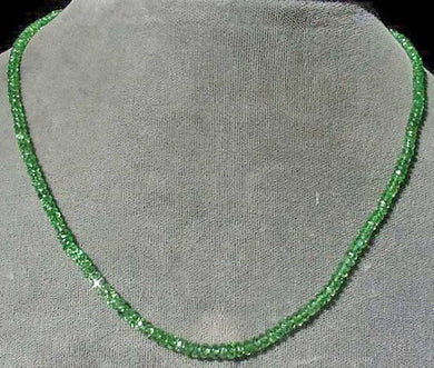 7 Beads of Tsavorite Garnet Faceted Roundel Beads 3287 - PremiumBead