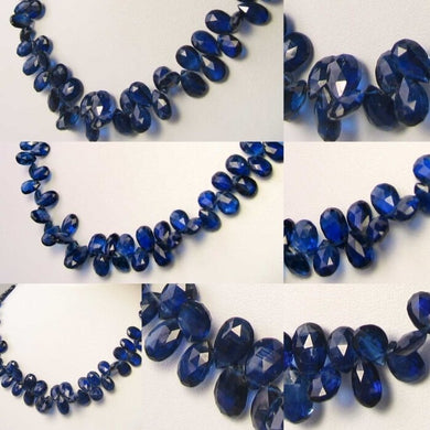 83cts! AAA Kyanite Faceted Briolette 58 Bead Strand 109914A - PremiumBead Primary Image 1