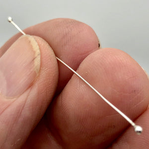12 Handmade Sterling Silver 24 Gauge Double Headed Headpins Jewelry Supplies - PremiumBead Primary Image 1