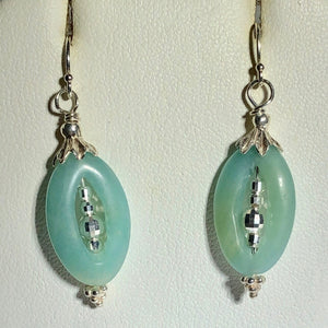Amazonite Picture-Frame and Sterling Earrings 309368DA - PremiumBead