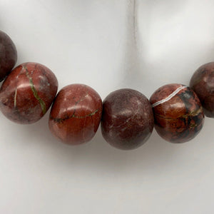 Natural Multi-hue Red/Brown Turquoise Roundel Bead Strand - PremiumBead