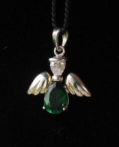 May! Crystal Kid Angel & Silver Pendant 9925Eb - PremiumBead